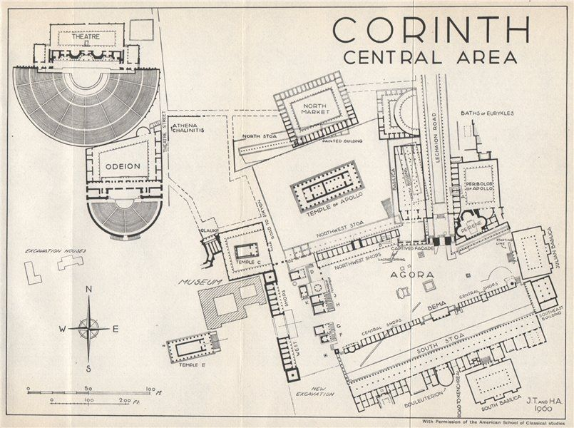 corinth-vintage-ground-plan.-greece-1967-vintage-map-287122-p