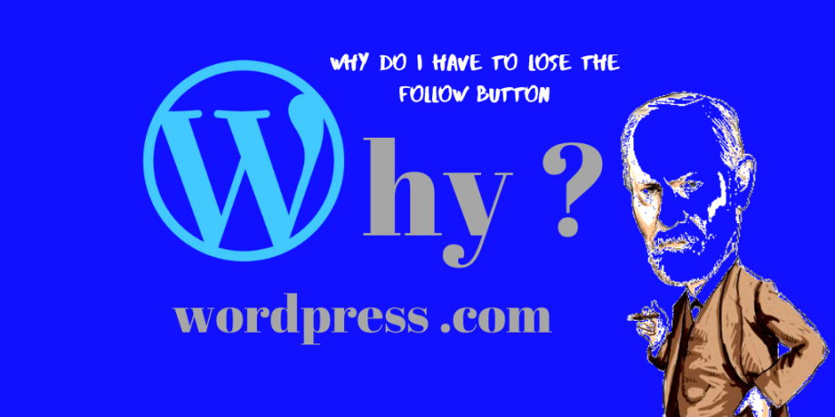 """Why do i have to lose the """"Follow Button"""" ?  On the Business Plan ?  WordPress ?  .COM ?"""