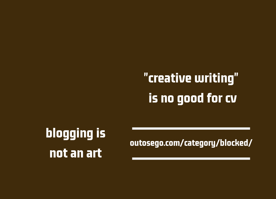 blogging, not an art