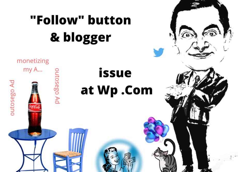 Follow button & blogger
