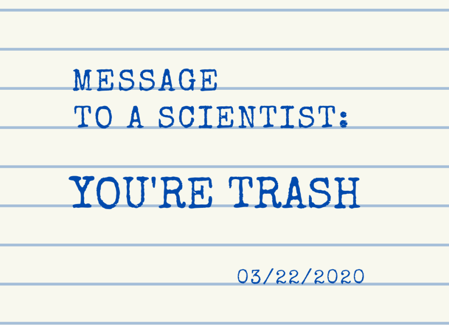 Message to a scientist