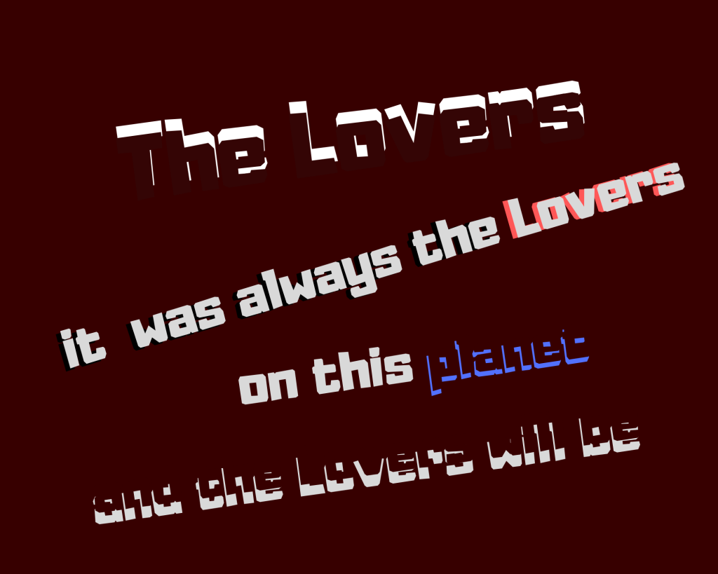 and the Lovers will be
