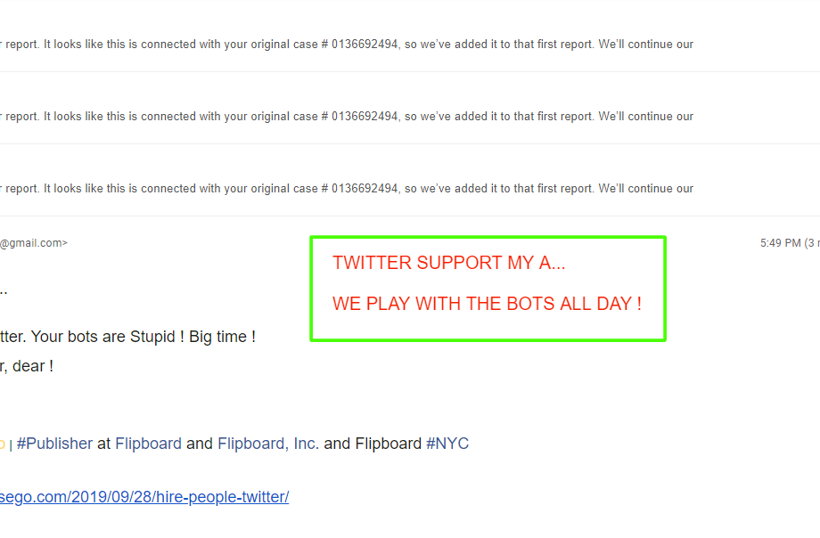 Twitter support my A...